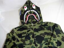 A BATHING APE BAPE 1ST CAMO SHARK FULL ZIP HOODIE GREEN XL WGM MADE IN JAPAN