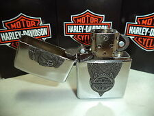ZIPPO LIGHTER FEUERZEUG HARLEY DAVIDSON EAGLE ON TIRE CHROME DISCOUNT NEW