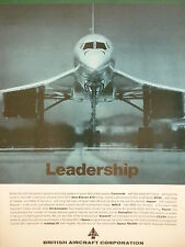 1/1973 PUB BRITISH AIRCRAFT CORPORATION BAC CONCORDE SUPERSONIC AIRLINER AD