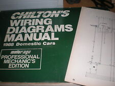 1988 CHEVROLET CAVALIER WIRING DIAGRAMS SCHEMATICS MANUAL SHEETS SET