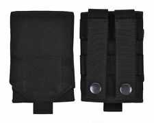 Black MOLLE Tactical Cordura Mobile Phone Smartphone Cell Belt Pouch Bag Case L