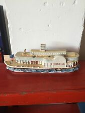 "Vintage Robert Robt E Lee Steamboat Ceramic Porcelain Guido 17"" Large Rare Boat"