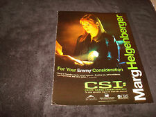 CSI Emmy ad with Marg Helgenberger as Catherine Willows for Best Actress