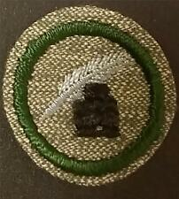 1933-1936 Girl Scout Badge SCRIBE JOURNALIST- GREY GREEN ROUND