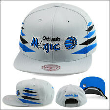 NEW Mitchell & Ness Orlando Magic Snapback Hat Cap All Grey/Diamond Side