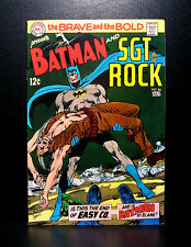 COMICS: DC: Brave and the Bold #84 (1969), Batman/Sgt Rock, Neal Adams art -RARE