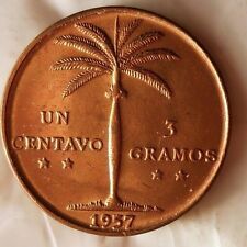 1957 DOMINICAN REPUBLIC CENTAVO - AU/UNC RED - Hard to Find Coin - Lot #GRL