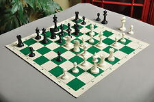 "USCF Sales Competition Plastic Chess Set - Pieces Only - 3.75"" Black & white"