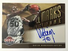 David Robinson Autograph 2012-13 Panini Past & Present Auto SP Hall Marks