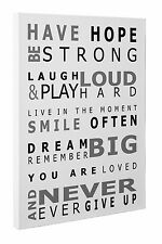 Have Hope Inspirational Quote Poem Word Art Canvas Print Wall Art A1 51 X 76 cm