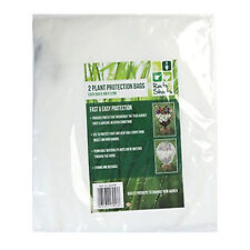 2 x Frost Plant Protection Bags Fleece Winter Cover Garden Shrubs 0.6m x 0.8m.