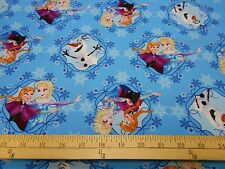 "2 yards Disney Frozen Sisters ""Sisters Ice Skating  Framed""  Fabric"