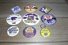 Kansas State University Football Bowl Pin Lot (9) - 1996 - 2013 Cotton Fiesta +