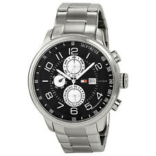 Tommy Hilfiger Classic GMT Grey Dial Stainless Steel Mens Watch 1790860