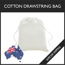 Cotton Drawstring Bag Gym Sports Swim School Dance Shoe Sackpack Footy BackPack