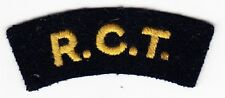 R.C.T. - ORIGINAL Vintage CANADIAN ARMY SHOULDER TAB PATCH TITLE