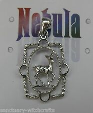 Forest Fawn / Deer Pendant by Peter Stone.Beautiful! Nebula Silver.