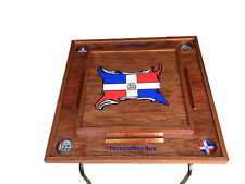 Dominican Republic Domino Table with the flag  ( Dark)