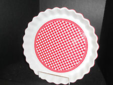 DONGHIA FOR TOSCANY*** CHECKMATE***QUICHE/PIE DISH***OVEN & DISHWASHER SAFE***