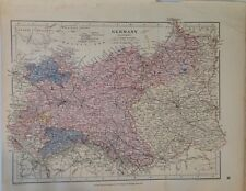 Stanford's Map Germany Eastern c1880 London Atlas Universal Geography Original
