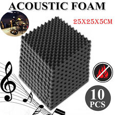 10Pcs Acoustic Soundproof Sound Thick Absorption Pyramid Studio Foam Board