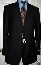VALENTINO NEW MENS FASHION FIT BLACK SUIT 46R / 56R