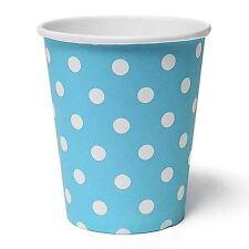 KRAFTZ® 50pcs Blue Polka Dot Paper Glasses Disposable Birthday Party Tableware