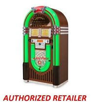 CROSLEY IJUKE BLUETOOTH DELUXE FULL SIZE JUKEBOX FM RADIO CD PLAYER WALNUT - NEW