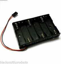 C1206-1 RC Battery Holder Case Box Pack 6 x AA Futaba