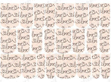 24 WATER SLIDE NAIL ART DECALS * VALENTINE LOVE SCRIPT * FULL NAIL COVERS