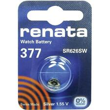 377 (SR626SW) Coin Battery Pack Renata 1.55V / for Watches Car Keys Torches