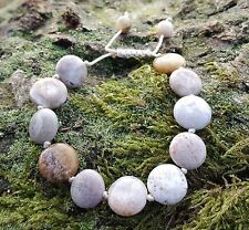 Ocean Jasper Grey/tan/cream Bead Bracelet