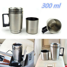 DC 12V Stainless Steel Travel Heated Thermos Coffee Tea Pot Mug Cup 300ml In-Car