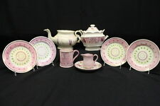 9 Pc Mixed Lot Vintage Antique Hand Painted PINK LUSTERWARE Staffordshire China