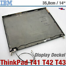 IBM THINKPAD T41 T43 T42 NOTEBOOK CASE SCREEN LID WITH HINGES 62P4194