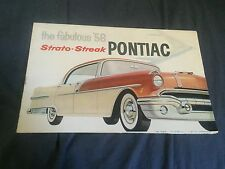 1956 Pontiac Star Chief Chieftian 860 and 870 Color Brochure Prospekt