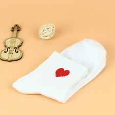 1pair Mini Red Heart Design Casual Ankle High Low Cut Soft Cotton Crew Socks New