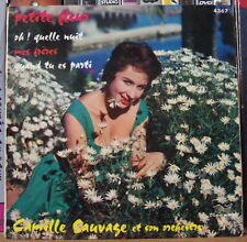 CAMILLE SAUVAGE ET SON ORCHESTRE PETITE FLEUR CHEESECAKE RETRO COVER FRENCH EP