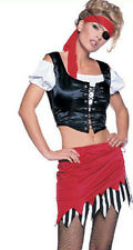 PIRATE COSTUME great for HEN NIGHTS + PARTIES 5 piece M