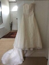 Ex Sample Wedding Dress Silk Lace & Sequin Bodice Justine Mireil Layered Skirt 8