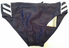 Adidas Boys Swimming Trunks Briefs Uk Size 28 Extra Small Black / White New