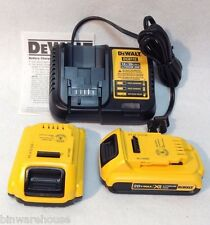DEWALT DCB112 NEW 12v / 20v LI-ION CHARGER 20V AND 2 DCB203 2.0AH BATTERIES