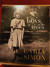 SIGNED IN PERSON CARLY SIMON Boys in the Trees, A MEMOIR 2015 CD Unabridged WOW!