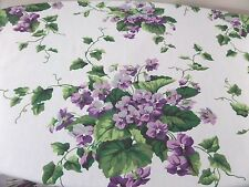 Vintage Waverly Purple Violets Curtain + Valance Set 3 Pieces Cottage Floral