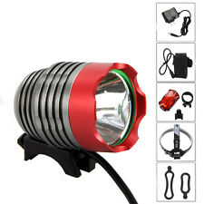 5000Lm CREE XM-L T6 LED Front Bicycle bike Lamp Light HeadLight Headlamp+Battery