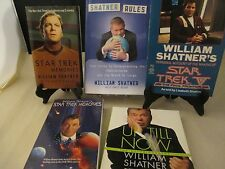 Books 5 Shatner Rules Captains Log ST Memories Book & Video Up Till Now Audio