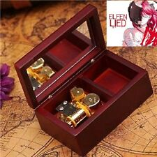 RECTANGLE WOOD JEWELRY WIND UP MUSIC BOX  : Elfen Lied - Lilium