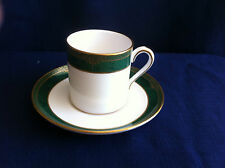 Spode Chardonnay small coffee can & saucer (minor rim gilt wear)