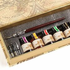GC QUill Calligraphy Pen Set Writing Case with 45 Bottle Ink