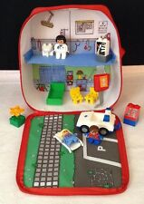 LEGO Duplo #3617 Explore On the Move Hospital EMS Carry Playset Bag w 3 Figures